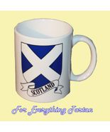 St Andrews Cross Tartan Crest Ceramic Mug Badge... - $29.00