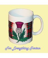 Scottish Thistle Tartan Crest Ceramic Mug Badge... - $29.00