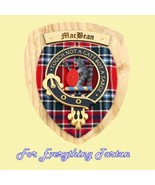 Clan MacBean Tartan Woodcarver Wooden Wall Plaq... - $120.00