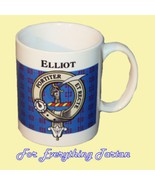 Elliot Tartan Clan Crest Ceramic Mug Clan Badge... - $29.00