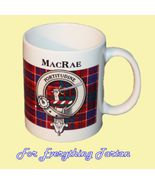 MacRae Tartan Clan Crest Ceramic Mug Clan Badge... - $29.00