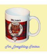 Munro Tartan Clan Crest Ceramic Mug Clan Badge ... - $29.00
