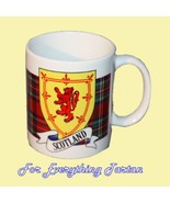 Lion Rampant Tartan Crest Ceramic Mug Badge Lio... - $29.00