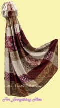 Celtic Thistle Rosewood Chenille Wool Jacquard ... - $175.00