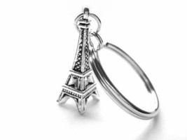 Eiffel Tower Key Chain or Zipper Pull with Eiffel Tower Charm - $11.00