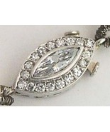 MARQUISE DIAMOND PLATINUM ART DECO GEM PEARLS CLASP - $1,400.00