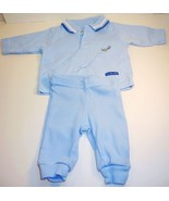 Carter's Child of Mine blue boys shirt pant sweatsuit New Born - $6.95