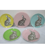 BIA Cordon Bleu Easter Rabbit Pastel Set of 4 Porcelain Plates - $685,52 MXN