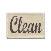 Dishwasher Clean Dirty Mini Flip Magnet Sign Natural Linen stamp - $9.00