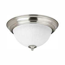 "Progress Lighting 11.38"" Brushed Nickel Integrated LED Flush Mount - ₹1,524.66 INR"