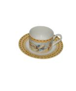 Fitz & Floyd Habitat Americana CHERUB Omnibus Cup Saucer Set 16976 - $17.81