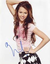 Miley Cyrus Authentic Autographed Photo Coa Sha #42283 - $85.00