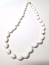 Crown Trifari Vintage White Knotted  Necklace - $37.80