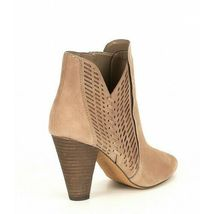 Women Vince Camuto Rotiena Suede Laser Cut Booties, Multi Sizes Wild Mushroom VC image 3