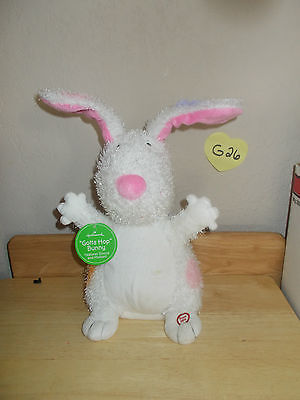 "Hallmark Easter ""Gotta Hop"" Bunny Sound and MOtion Plush image 1"