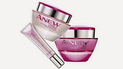 Primary image for Avon Anew Vitale Set Day Cream, Night Cream, Eye Cream, Full Size New boxed