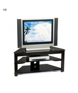 Black TV Stand 42 Inch Television Cable Manage Caddy Center Convenience NEW - $136.75