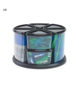 Deflecto 9 Canister Storage Home Office School Carousel Organize Plastic... - $49.20