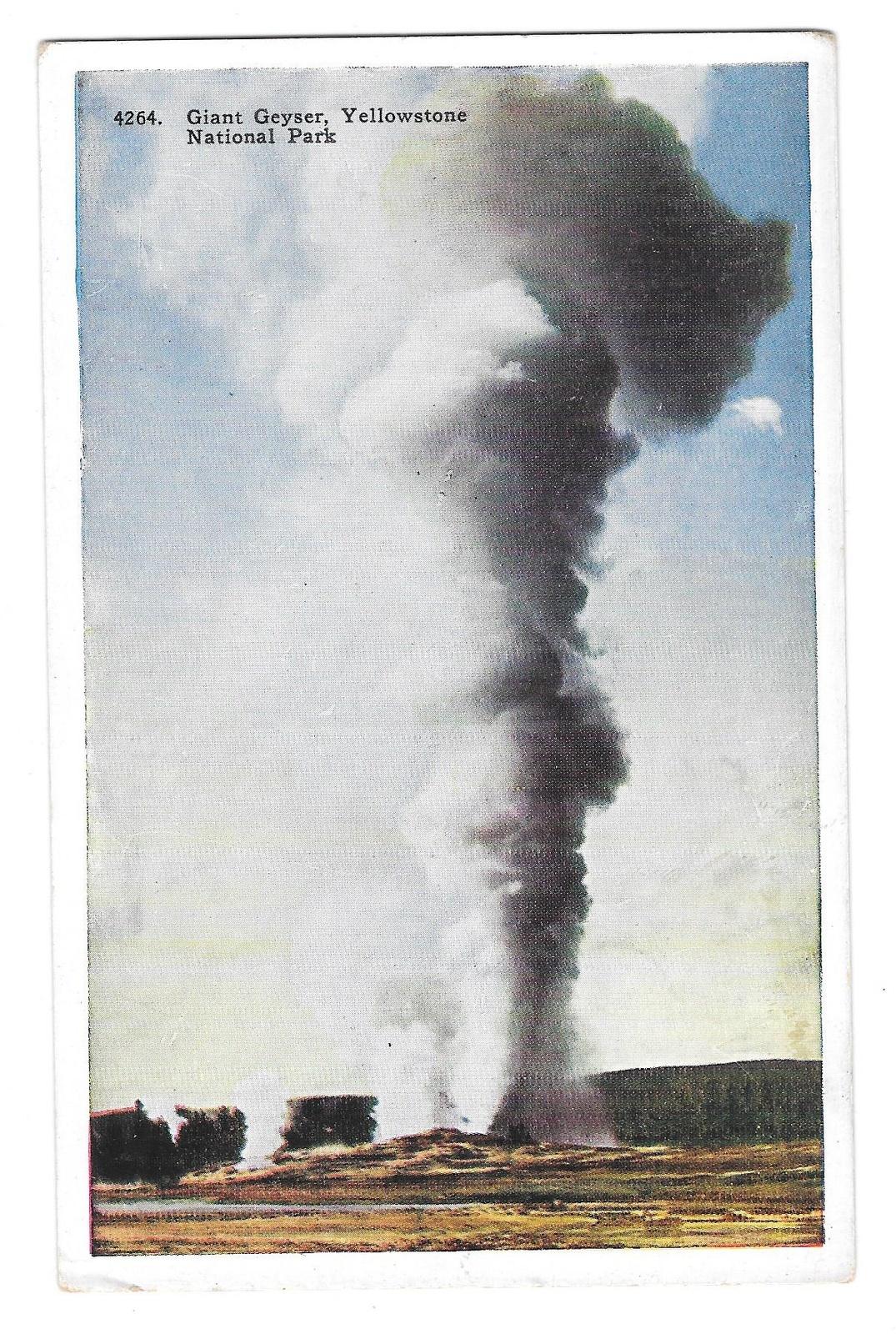 99 br 1925 1bx wy yellowstone giant geyser 13063 soil ll tip crease