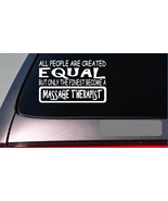"Massage Therapist equal Sticker *G684* 8"" vinyl table deep tissue towels heat - $3.99"