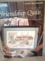 "Vintage 1987 Cross Stitch Pattern ""Friendship Quilts"" by Leisure Art #7308 - $3.99"