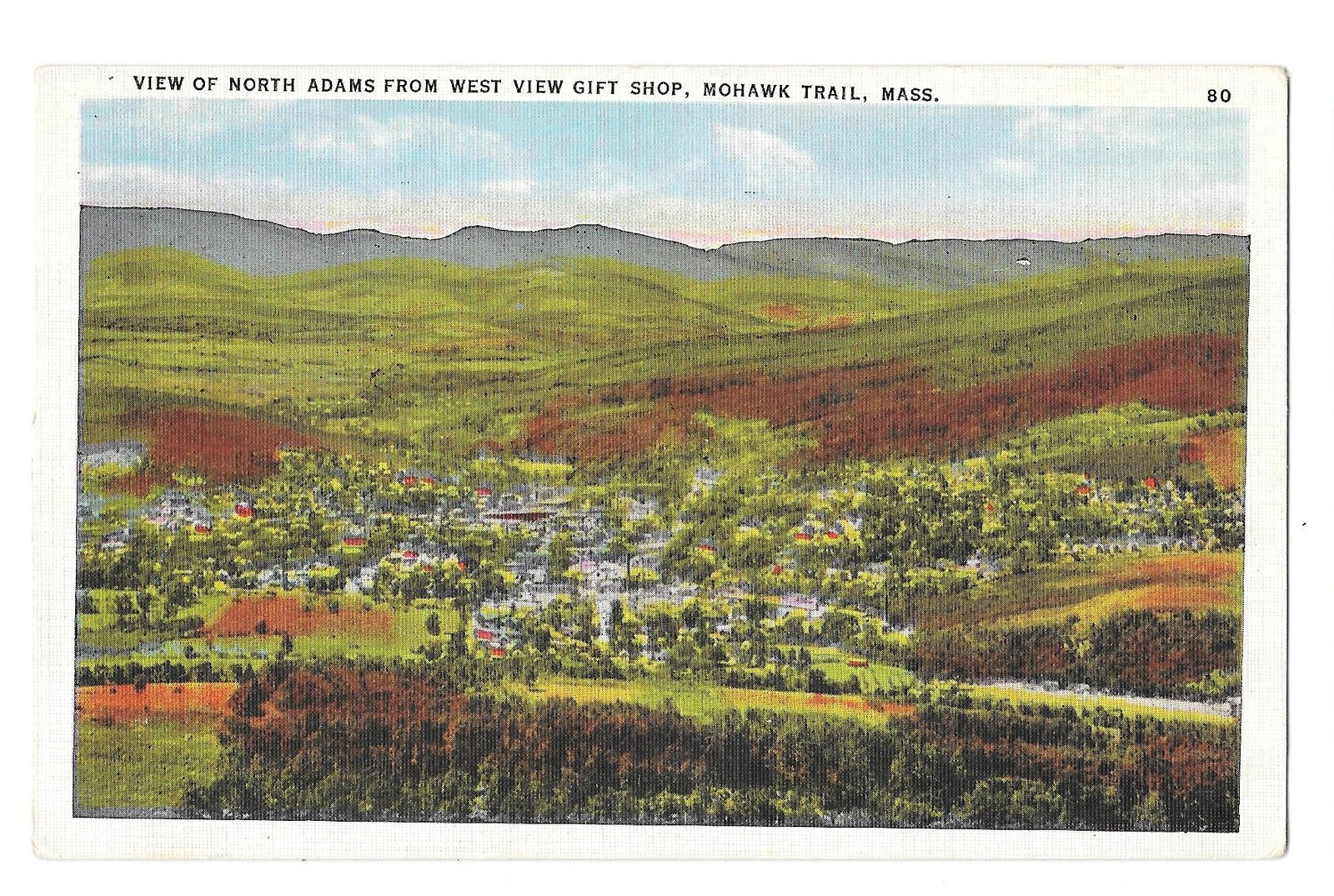99 br 1925 1bx ma mohawk trail view of north adams