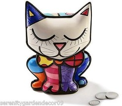 Romero Britto Cat Money Bank NEW w Authenticity Tags