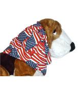 Dog Snood Patriotic Wavy American Flags Cotton Cavalier Spaniel Sz Puppy... - $9.50