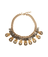 J.Crew Womens ALLOY GOLD TONE SWAROVSKI CRYSTAL NECKLACE~*Sold Out*~  - $85.00