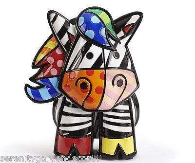 Romero Britto Zebra 3 Dimensional Figurine #334008 NEW