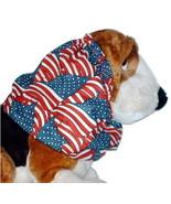 Dog Snood-Antique Look American Flags Cotton-Cavalier Spaniel-Sz Puppy S... - $9.50