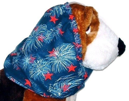 Primary image for Dog Snood Fireworks Sparkle Cotton Basset Hound Puppy REGULAR CLEARANCE