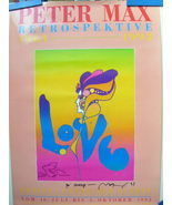 PETER MAX,ORIGINAL (AUTOGRAPH) LOVE POSTER WITH ORIG, DRAWING NEXT TO AU... - $850.00