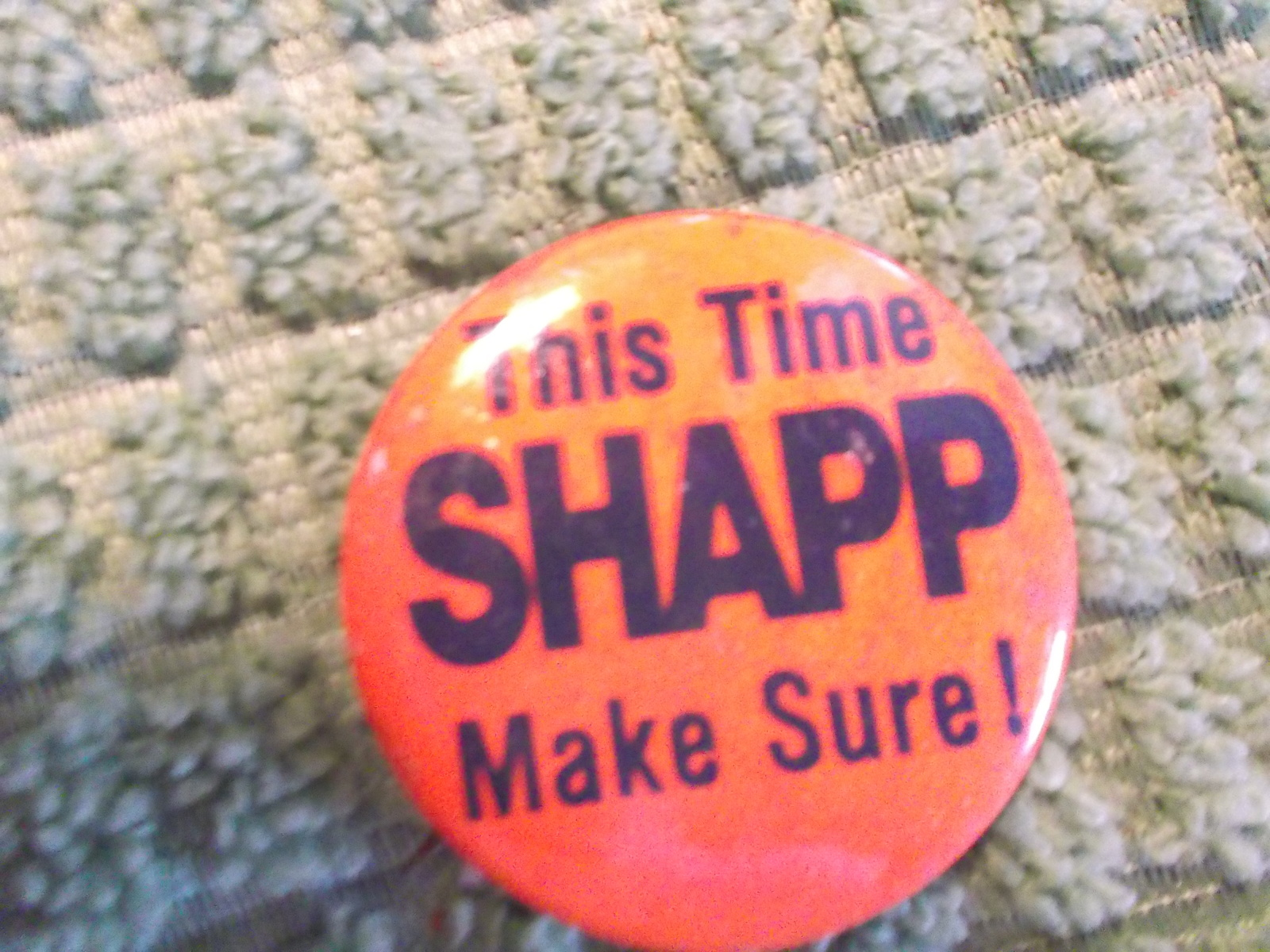 Primary image for Milton Shapp Campaign Pinback Button from PA Governor or 76 Preidential Campaign