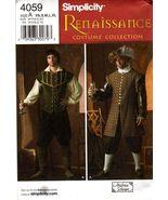 Simplicity 4059 RENAISSANCE DOUBLET HAT  COSTUMES XS-XL 30-48 OOP - $29.99