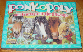 PONY OPOLY GAME LITTLE KID VERSION FROM THE MAKERS OF HORSE OPOLY LATE F... - $20.00