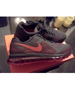 NEW! NIKE AIR MAX 2014 ANTHRACITE CRIMSON RED RUNNING SHOES NEW - $69.95