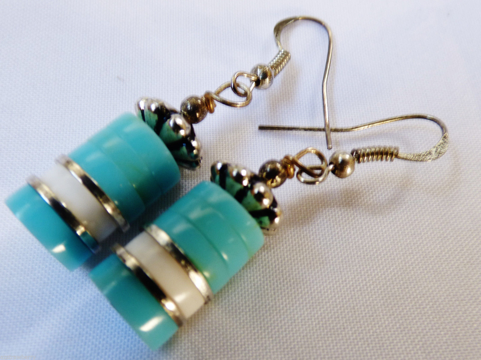 Primary image for Fashion silver tone Turquoise color drop dangle earrings