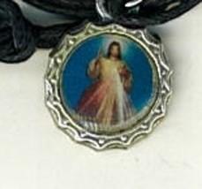 Necklace - Jesus, en Ti confio! Medal & Holy Card - LH125.1072IA image 2