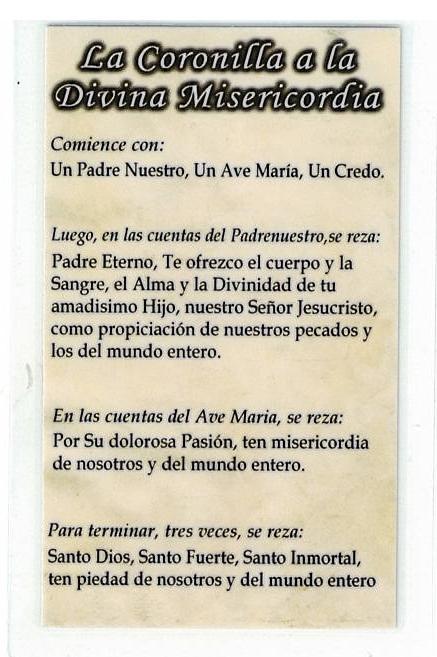 Necklace - Jesus, en Ti confio! Medal & Holy Card - LH125.1072IA