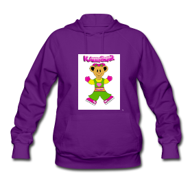 Kathy bear womens hooded sweatshirt