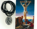 Necklace   jesus crucificado medal   holy card h125.0952 001 thumb155 crop