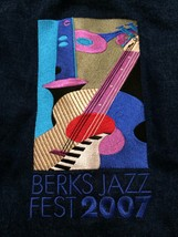 Berks Jazz Fest 2007 Embroidered Wrangler Jean Jacket Sz Large  Looks New! - $50.00
