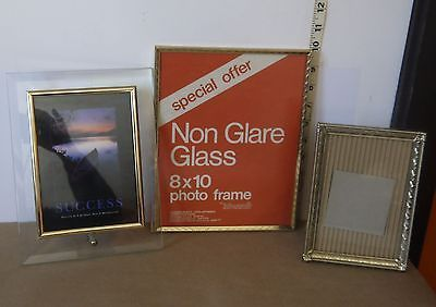 Primary image for Lot of 3 Assorted Picture Photo Table-Top Frames of Varying Sizes & Styles