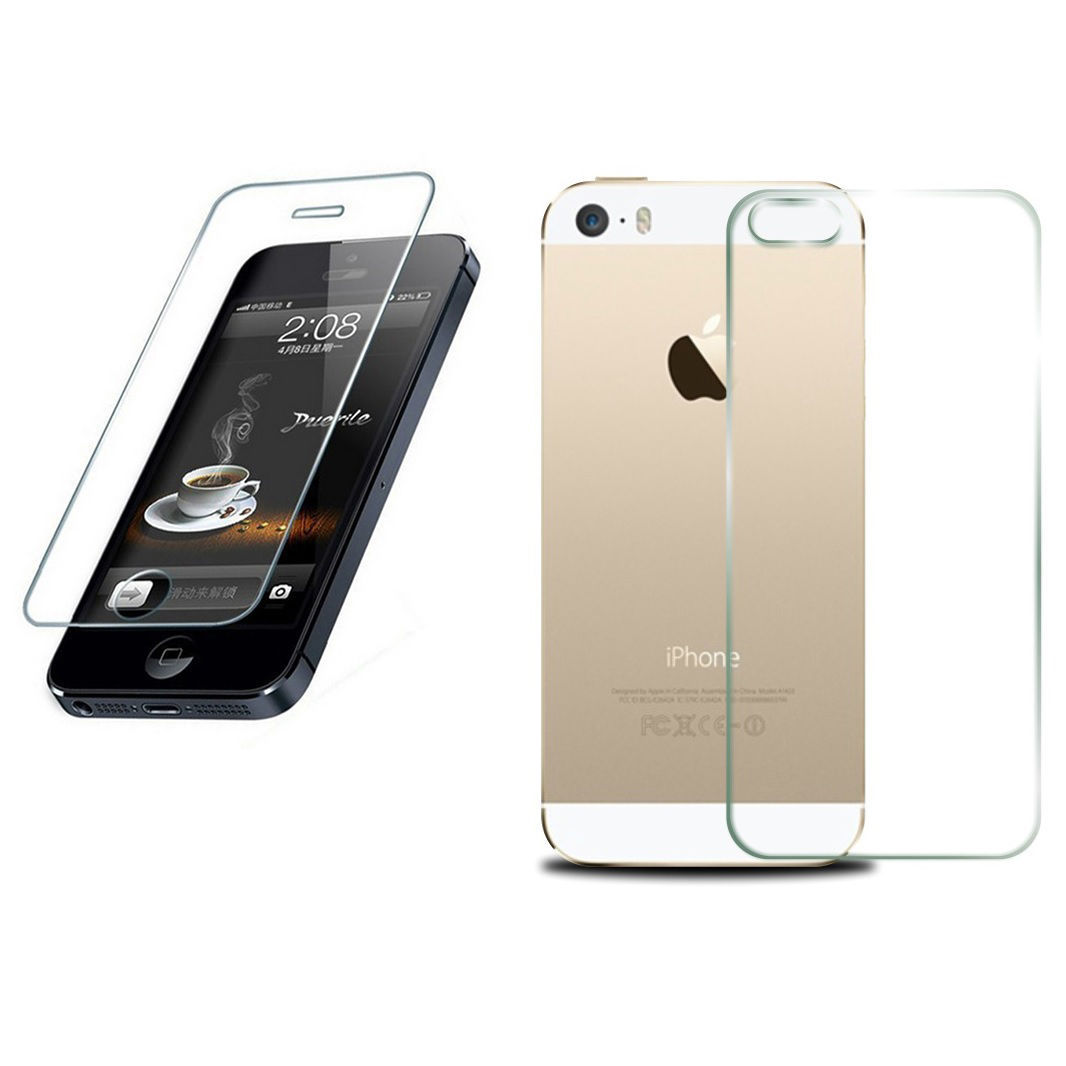 Primary image for Front Back Tempered Glass Screen Protector Guard Shield For Apple iPhone 5S 5 5C