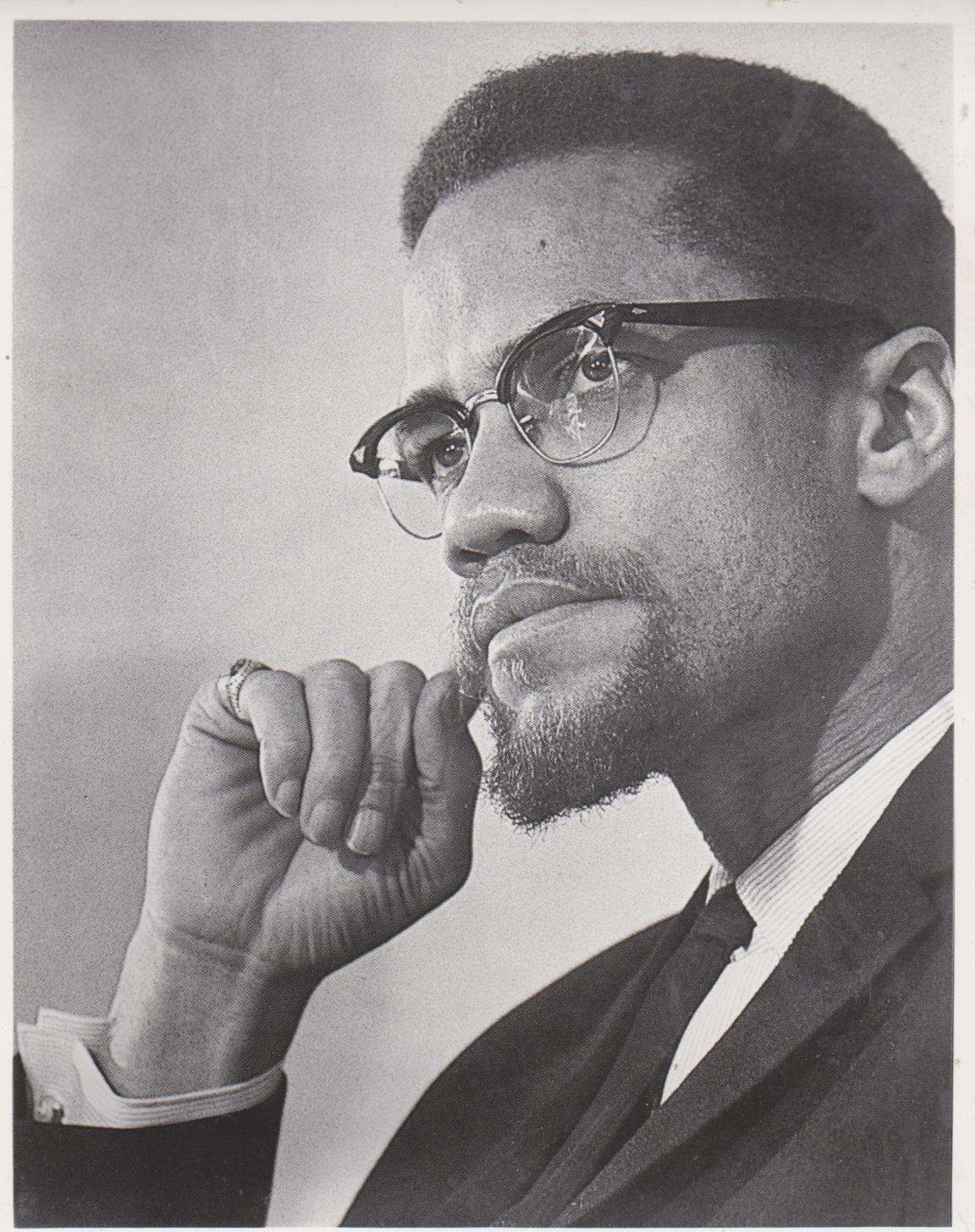 Primary image for Malcolm X Civil Rights Activist Vintage 8X10 BW Historical  Memorabilia Photo