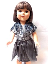 """18"""" Doll Silver / Grey Dress to fit American Girl, My Life, Our Generati... - $15.99"""