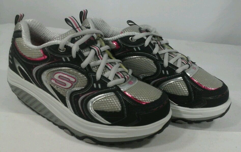 Primary image for Sketchers Shape Ups Womens Sz 6.5 Navy/Pink Athletic Toning Walking Shoes