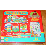 PUZZLE DOUBLES GIANT ABC & 123 TRAINS 2 GIANT 30 PC PUZZLES IN 1 BOX 60 ... - $12.00