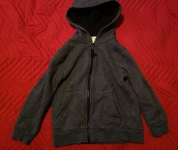 H&M Youth Gray Zipup Sweater *SIZE 4-6Y*  - $9.85